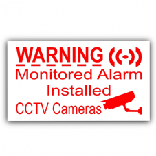5 x Monitored Alarm System Installed and CCTV Video Recording Camera-Security Warning Window Stickers-Mini Self Adhesive Vinyl Signs